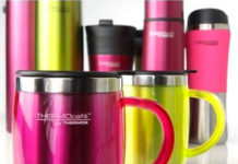 Thermos lime pink