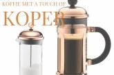Du café avec une touche de cuivre