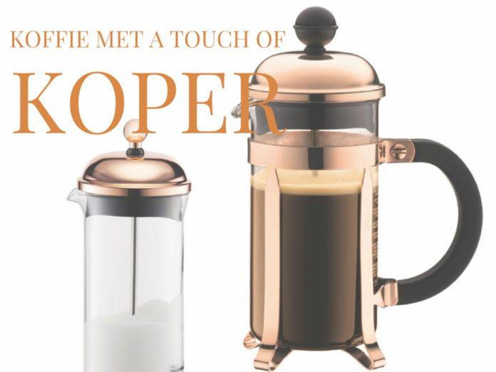 koffiemaker bodum koper