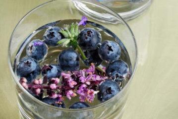 Recept: blauwe bessen – lavendel water