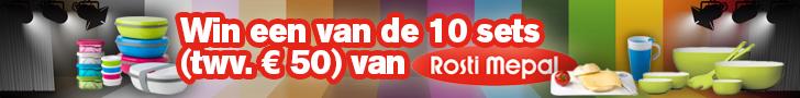 Win 1 van de 10 sets van Rosti Mepal