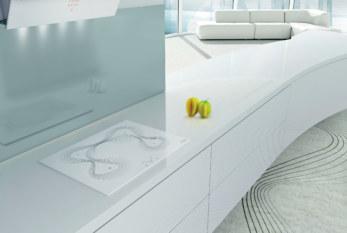 Modieus witte inductiekookplaten