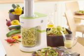 Maak groentespaghetti met de elektrische Kenwood spiraalsnijder