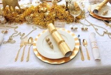 Je scoort altijd met een gouden kersttafel