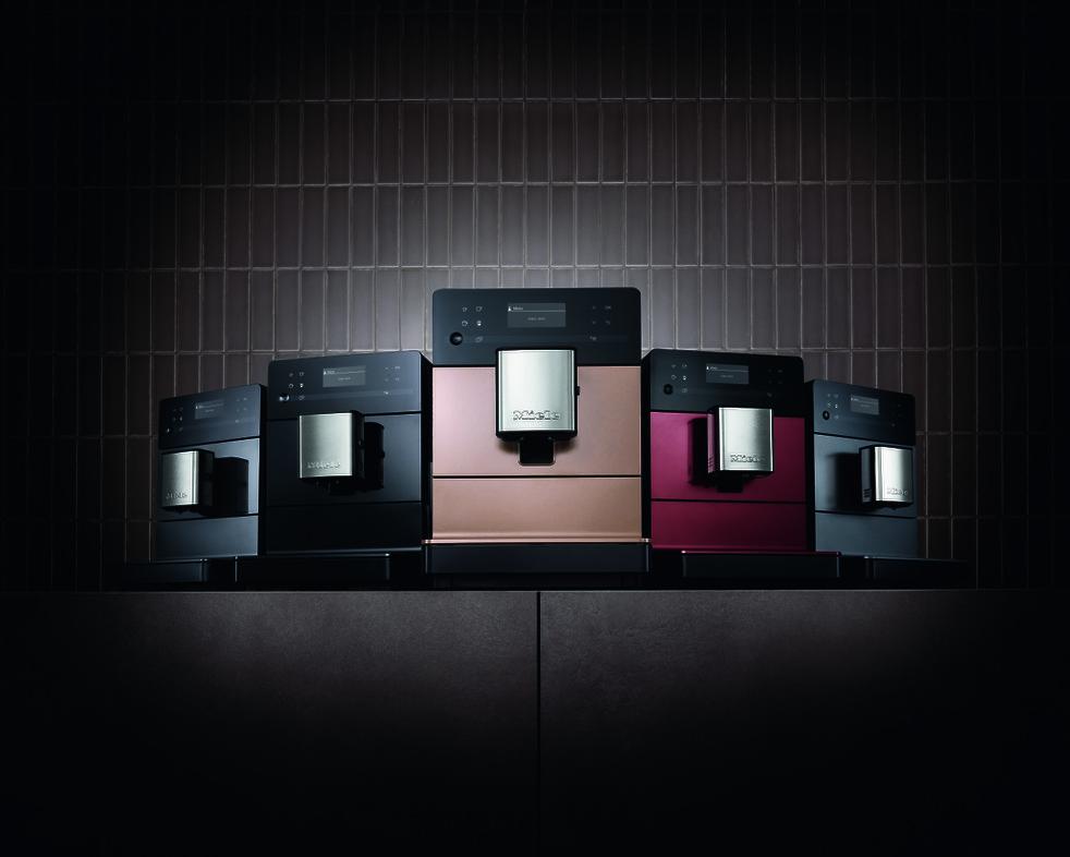 Kleurrijke koffiezetautomaten van Miele voor het perfecte kopje