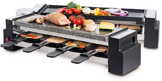 Foldable raclette en stone grill